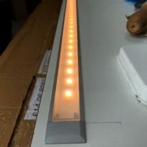 LED Beleuchtung Arbeitsplatte Licht an