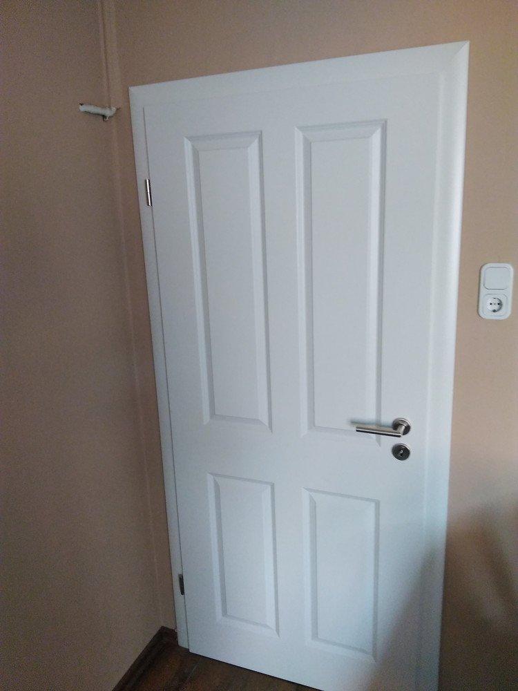 Zimmertür Einbausituation Nachher