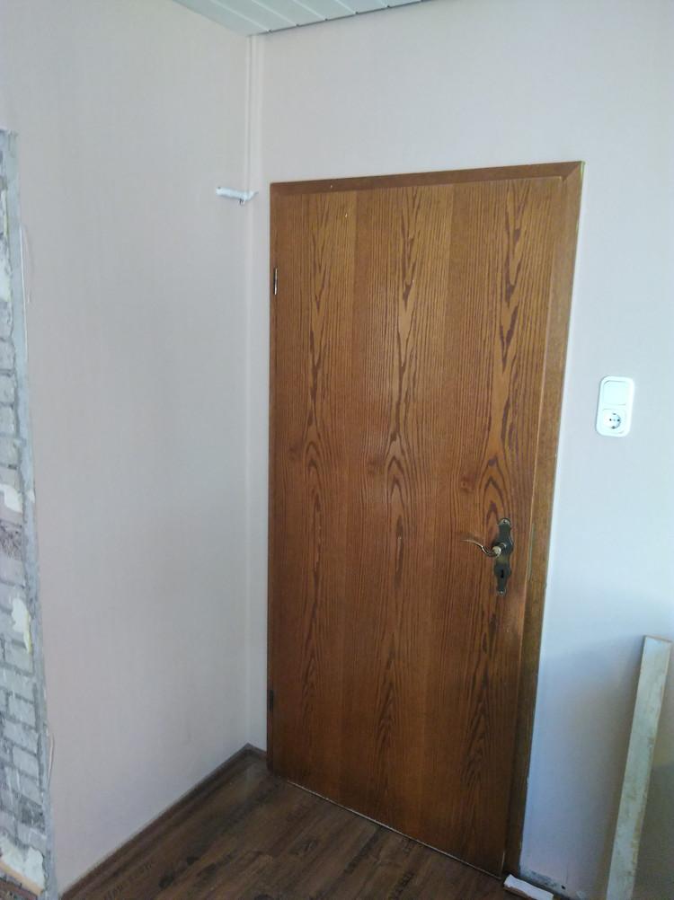 Zimmertür Einbausituation Vorher