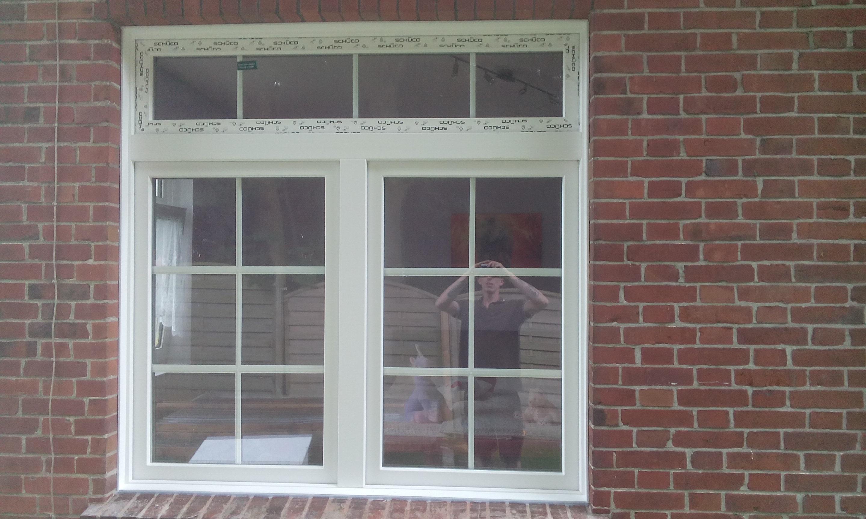 Sprossenfenster mit Oberlicht, inkl. Hohlkammerleisten