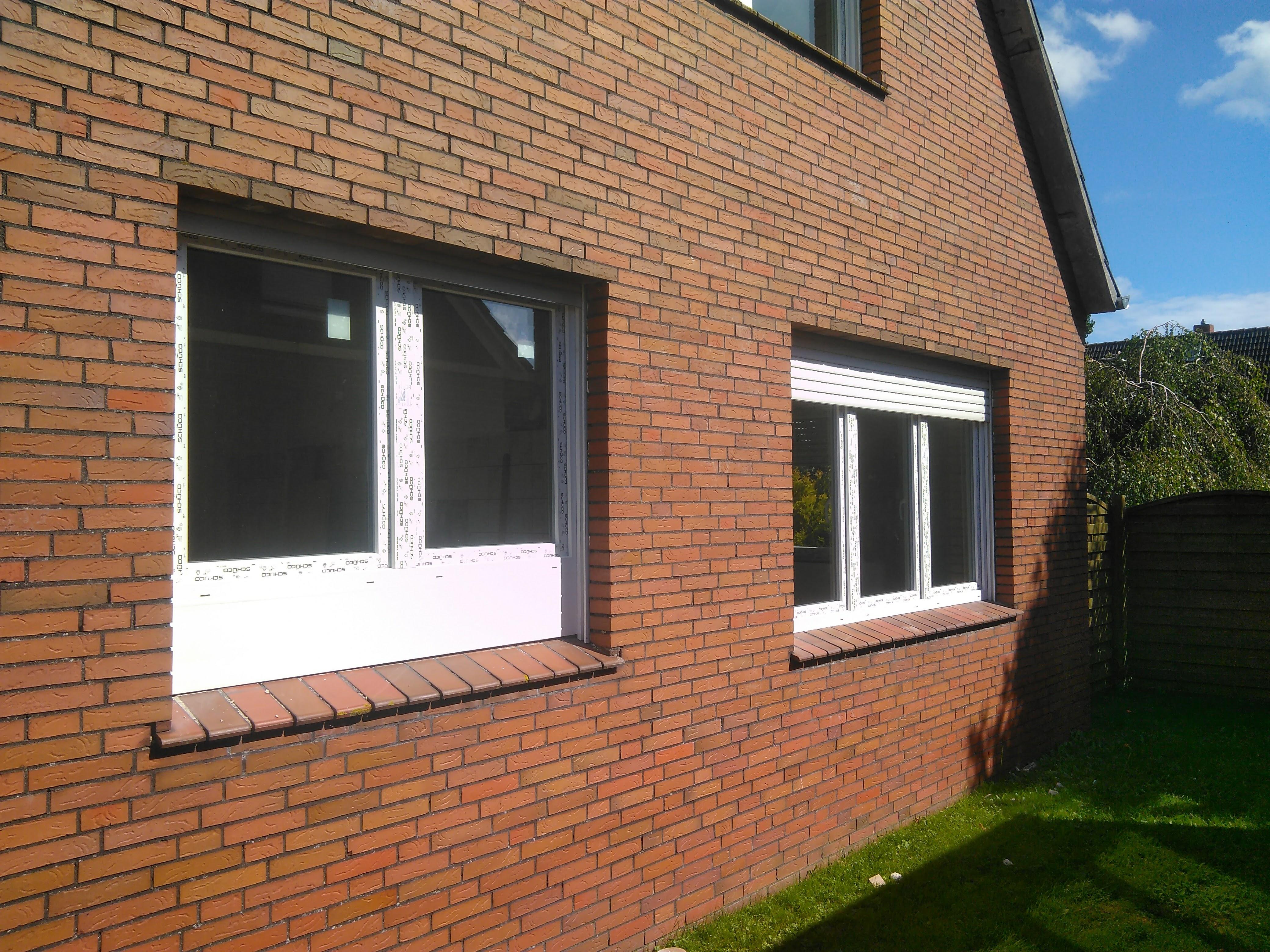 Küchenfenster mit mehrfacher Aufdopplung