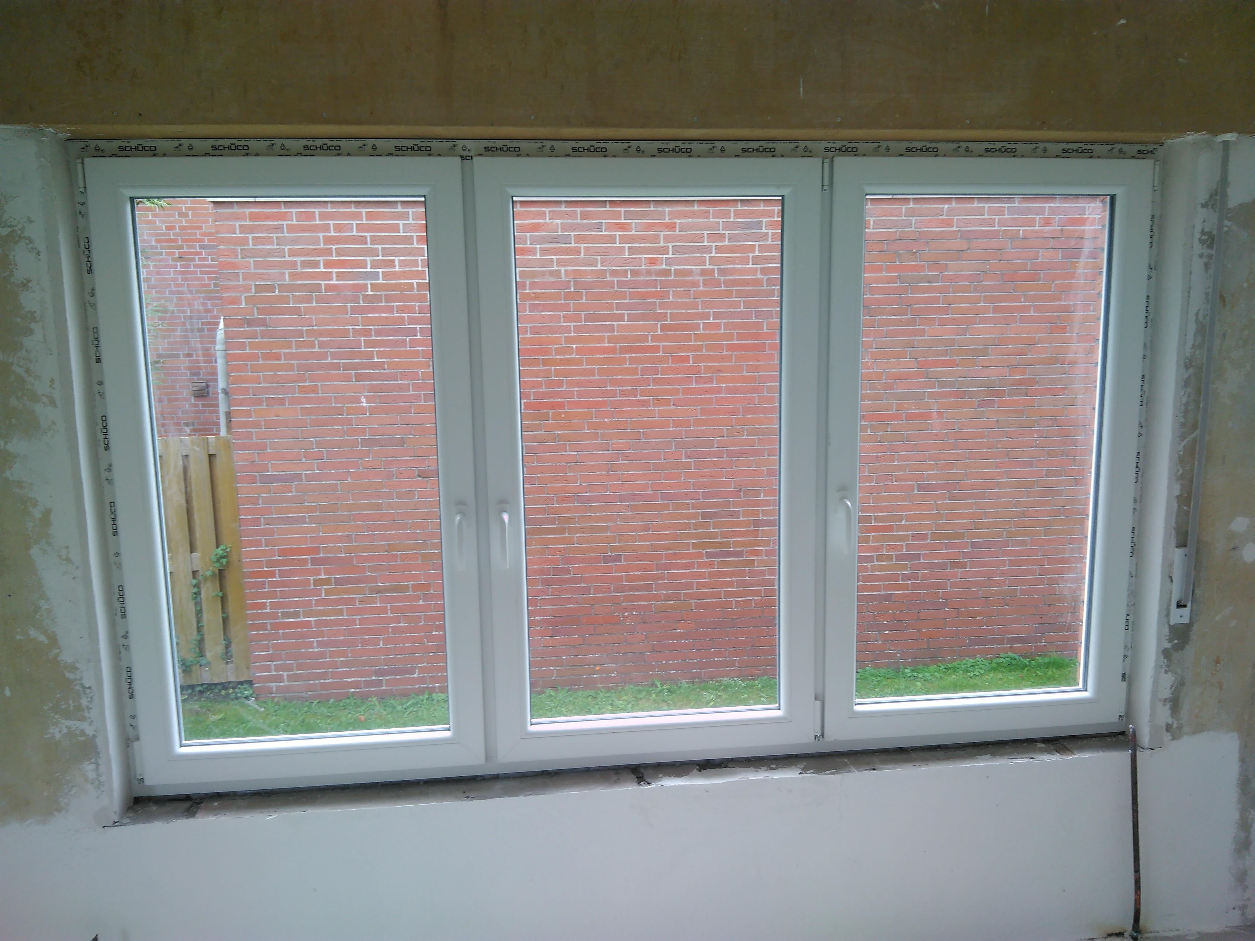3-teiliges Wohnzimmerfenster innenansicht