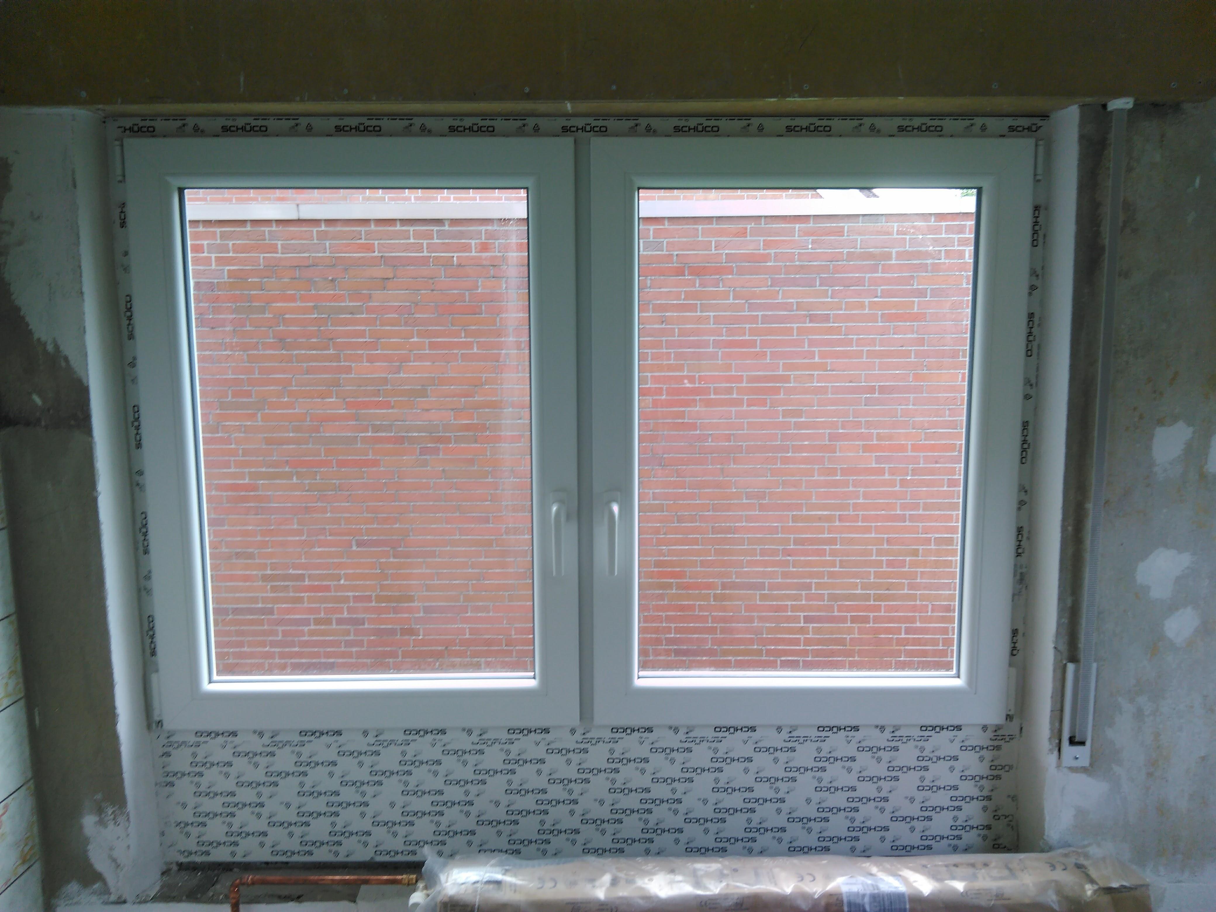 Küchenfenster mit mehrfacher Aufdopplung Innenansicht