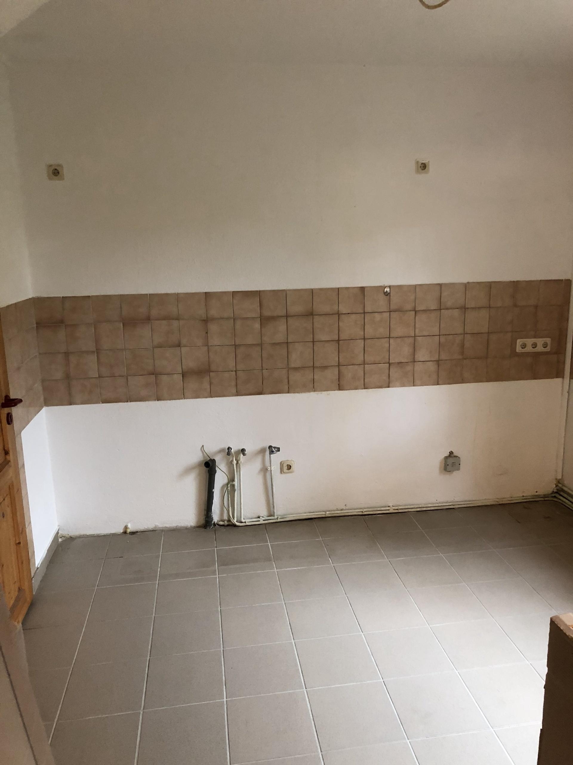 Küchenzeile vorher hochkant