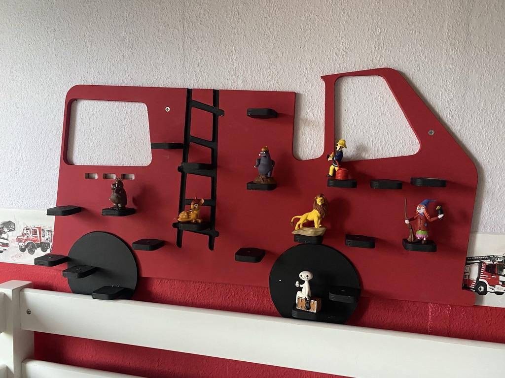 Regal für Tonies - Feuerwehr - bemalt